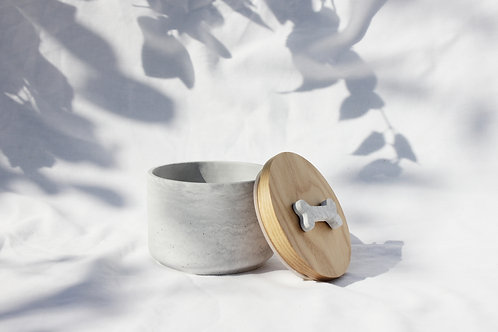 Grey & White Marble Treat Jar