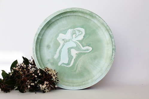 Green & Blue Marbled Tray