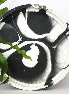 Black & White Marbled Tray