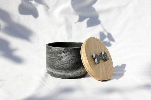 Black & White Marble Treat Jar