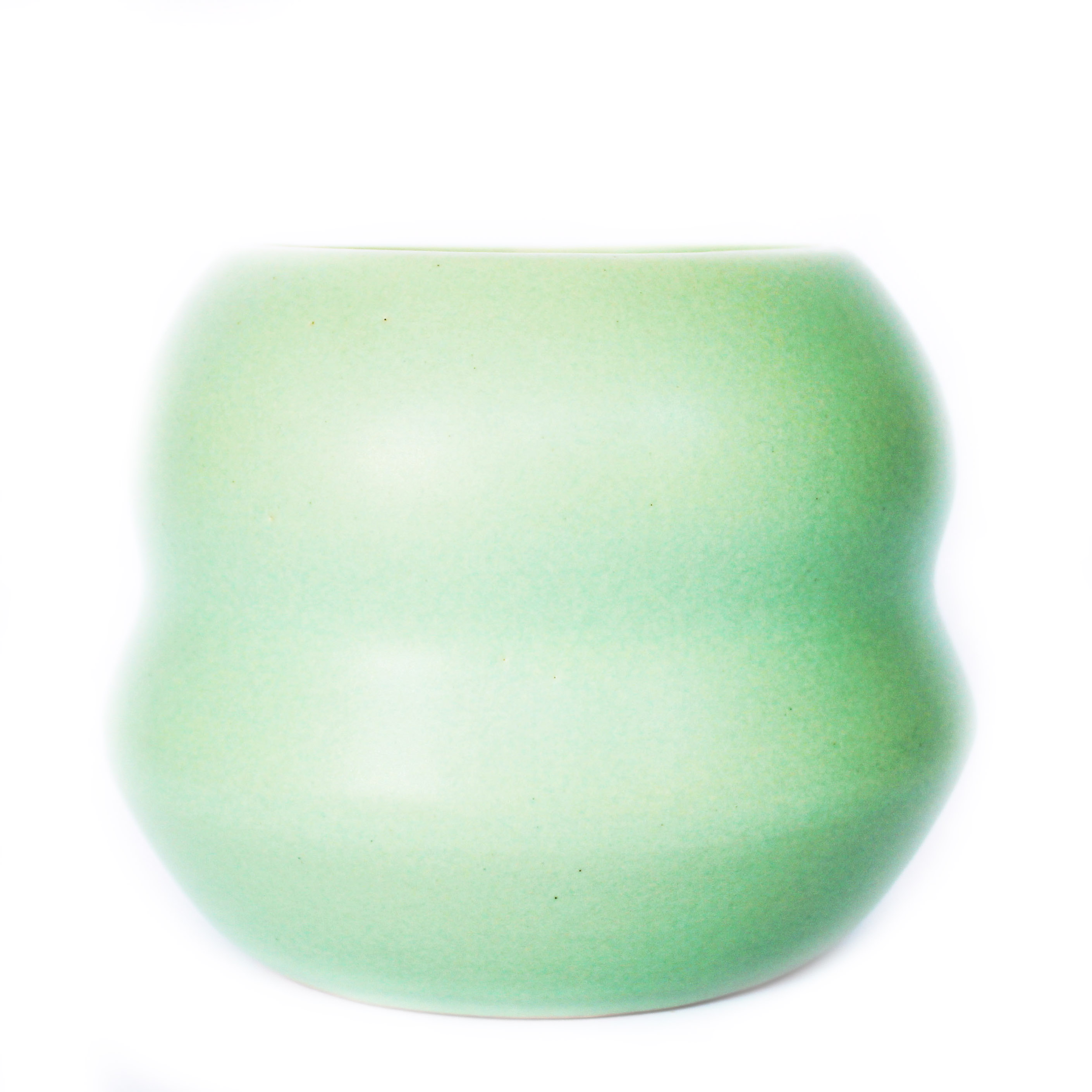 Matt Mint Green Curvy Planter