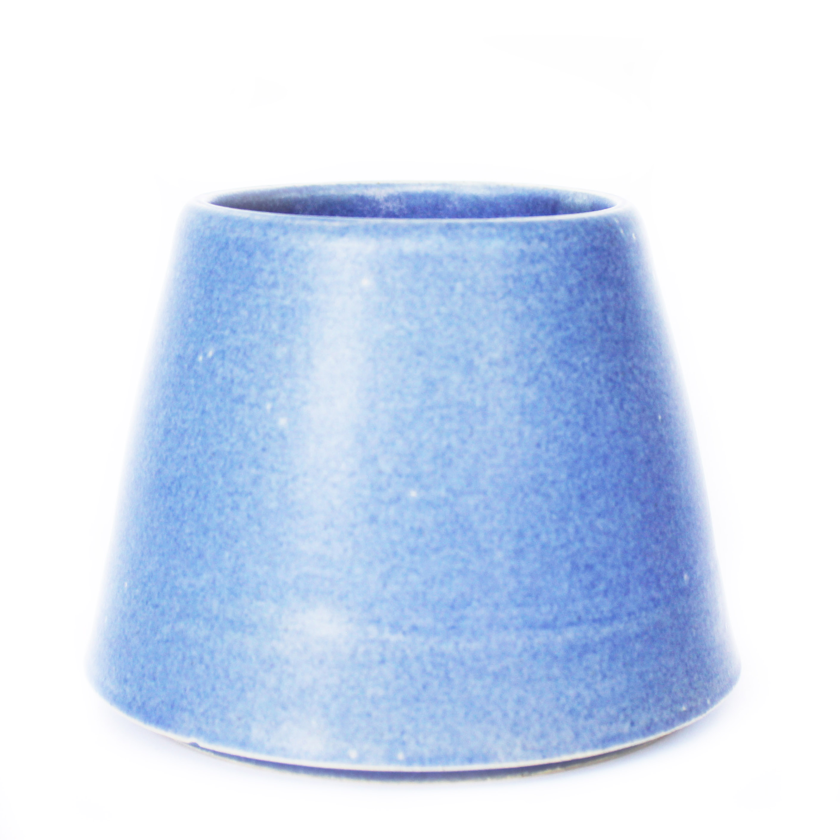 Matt Blue Cone Planter