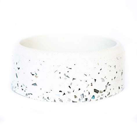 White & White Speckle