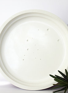 White Snow Marbled Tray