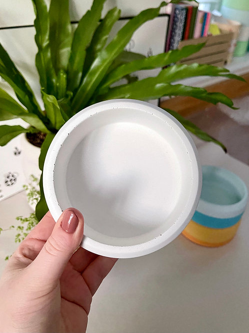 *Perfectly Imperfect* White Stackable Dish