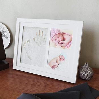Baby-Bilderrahmen mit Abdruckset / Baby Frame incl. Imprint Kit