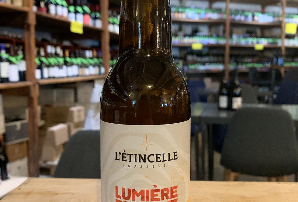 Bière L'Etincelle Lumière Blanche Ginger White Ale 33 cl 5°