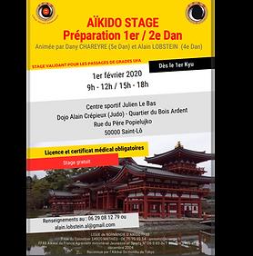 Stage AÏkido préparation 1-2e Dan