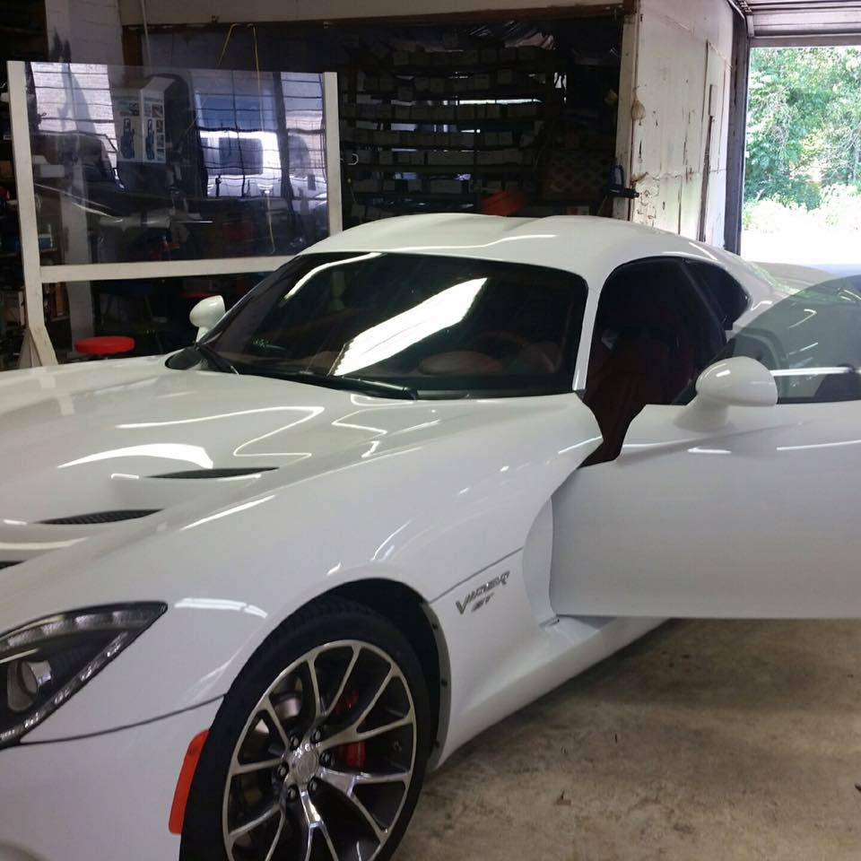 Dodge Viper in the shop