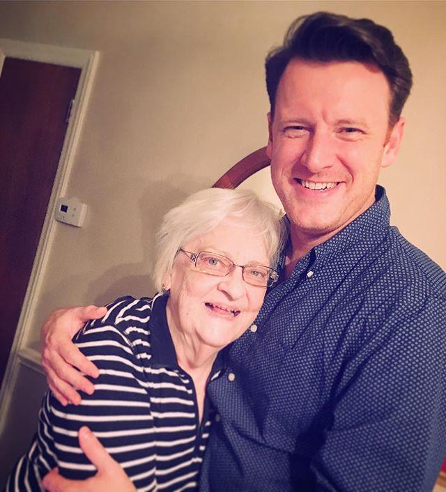 Norm and his beloved grandma Joan