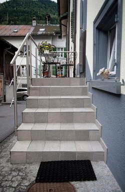 Plattenbelag Treppen
