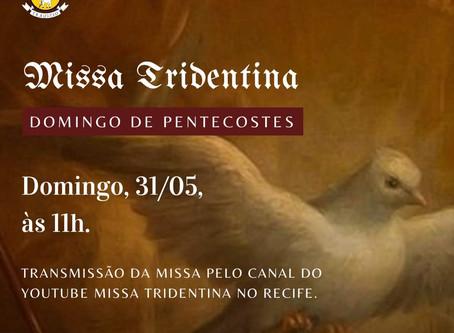 Transmissão da Missa do Domingo de Pentecostes 31/05/2020
