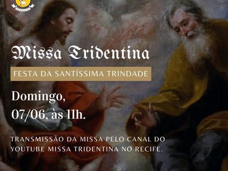 Transmissão da Missa do Domingo Festa da Santíssima Trindade 07/06/2020