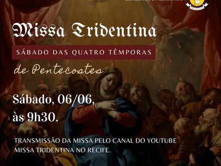Transmissão da Missa do Sábado 06/06/2020
