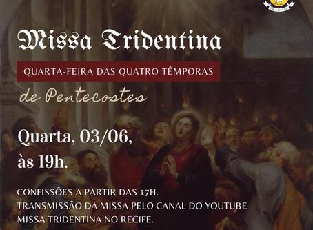 Transmissão da Missa da Quarta-feira 03/06/2020