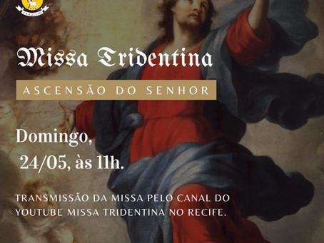 Transmissão da Missa do Domingo da Ascensão 24/05/2020