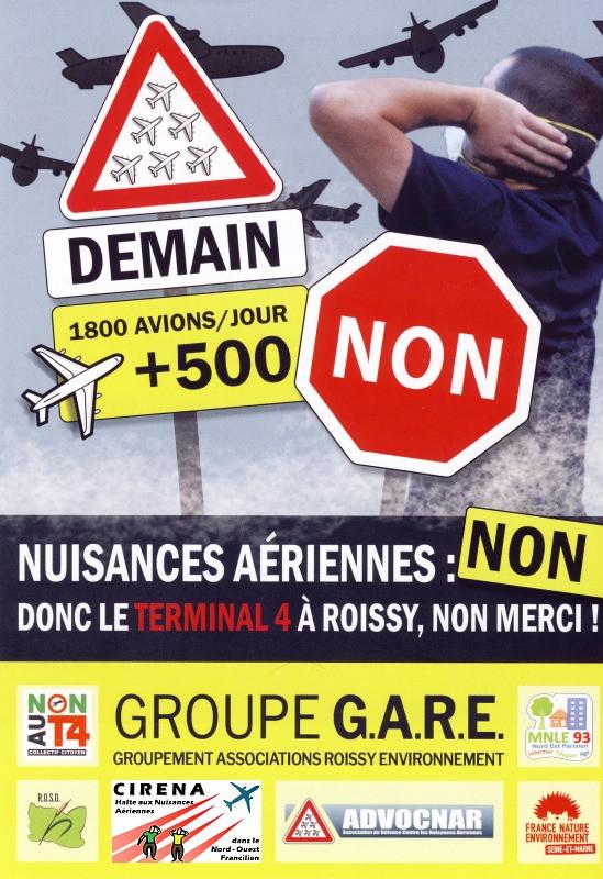 + 500 avions/ jour : Non au Terminal 4 de Roissy