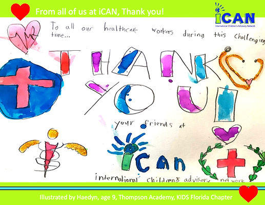 Covid for Kids at iCAN Thank you doctors