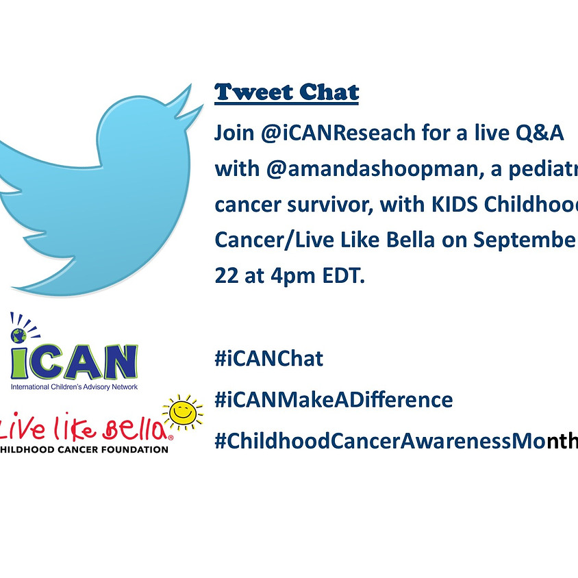 #iCAN Tweet Chat