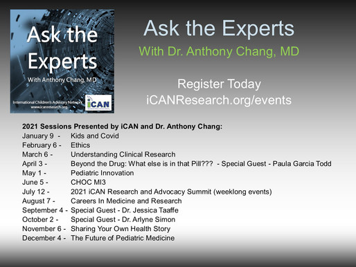 "iCAN Offers Interactive ""Ask The Experts"" April Session - Sign Up Today"