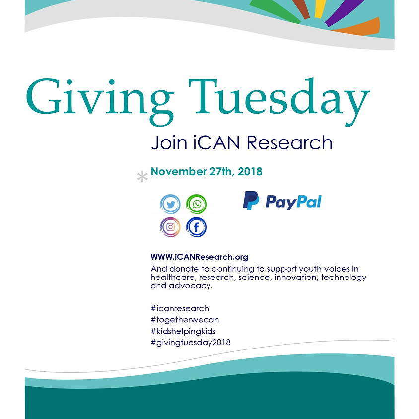 #GivingTuesday and iCAN Research