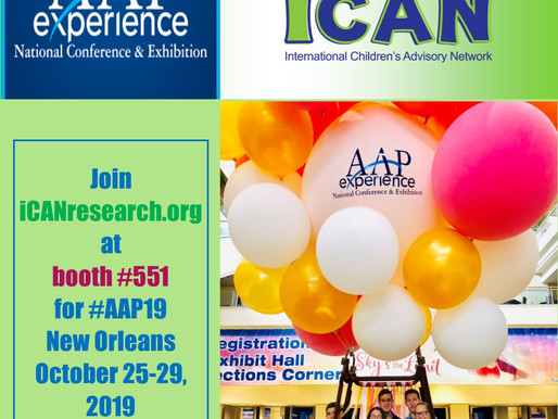 Save the Date:  2019 AAP NCE and iCAN Research Booth Announced