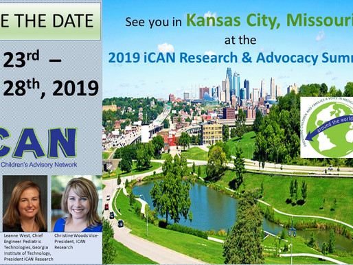 Save the Date:  2019 iCAN Research and Advocacy Summit is Announced