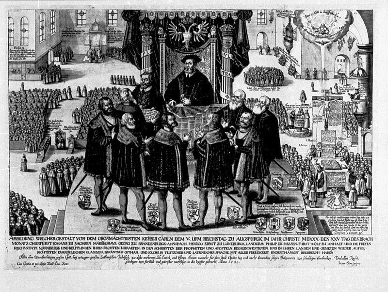 Verlesung der Confessio Augustana vor Kaiser Karl V. am 25.Juni 1530 bei Kanzler Christian Beyer
