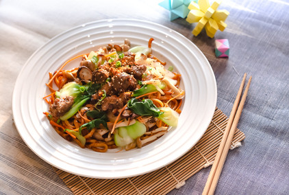 Braised Beef with Teriyaki Sauce Udon No
