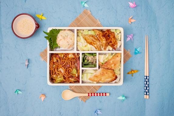 Misoyaki fish yaki soba with mat.jpg