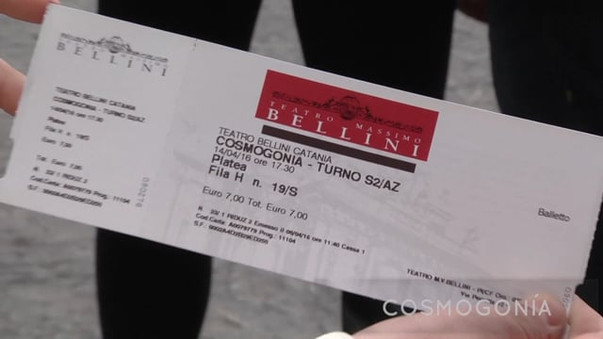 Cosmogonía en Teatro Massimo Bellini de Catania