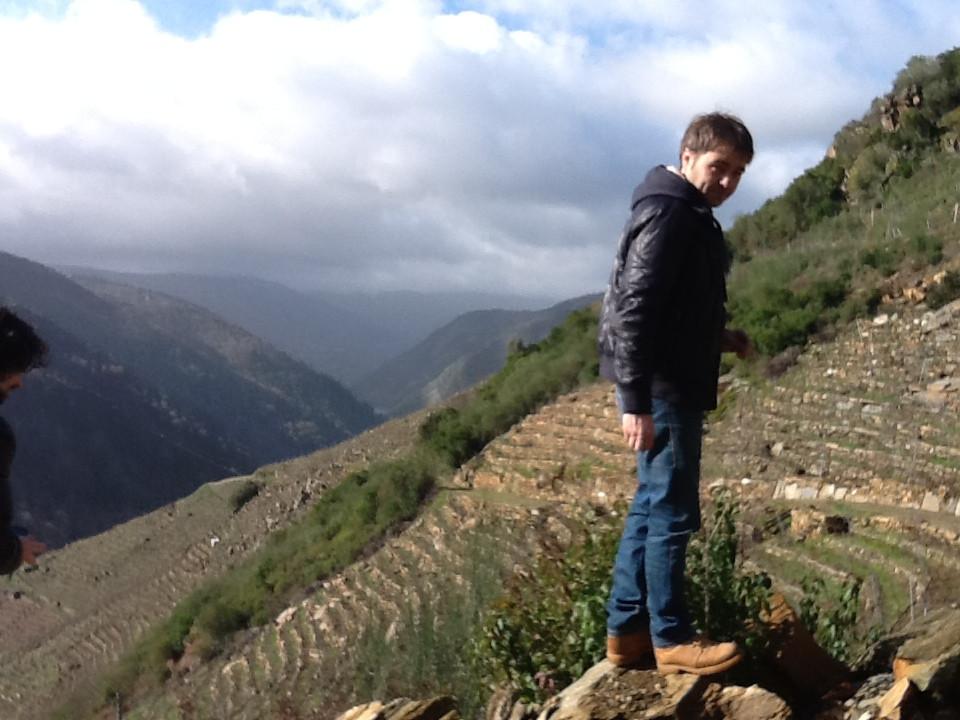 Pedro Rodriguez of Guimaro in his vineyard on the Xil