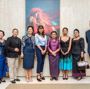 Representative of Minister of Woman Affaire, Try Sokha, Adana Mam Legros, Her excellency Phoeung Sakona, Tytaart and mother