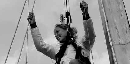 Julie on the mast