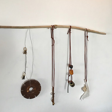 Necklaces made with Found Objects, Irene Blair