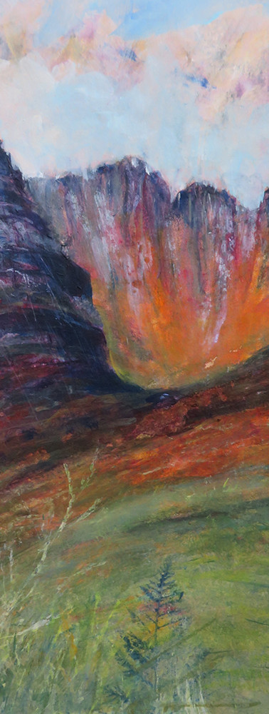 Aileen Grant, Fire in the Hills, Acrylic