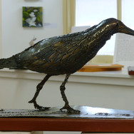Greg Dobson: 'Curlew',laquered_steel,17x38