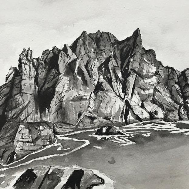 Northern Cliffs of Boreray - Isabel McLeish
