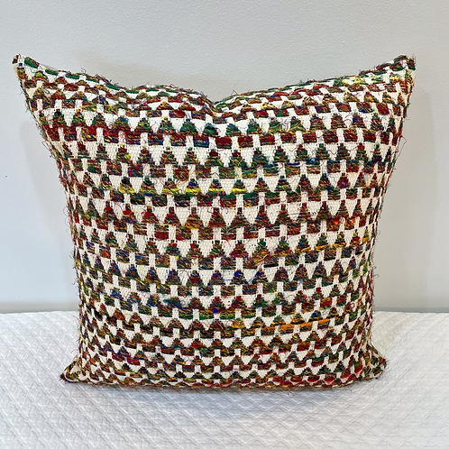 Lively Colorful Geo Pillow