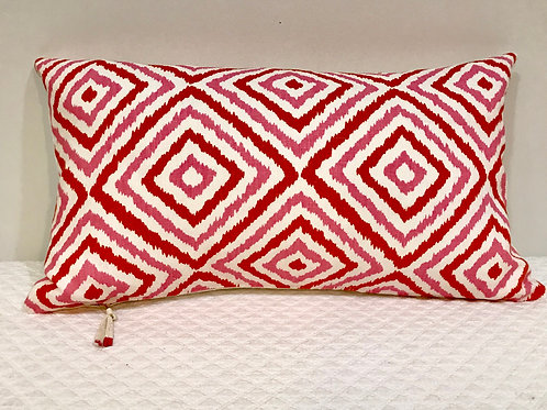 Pink & 0range linen pillow
