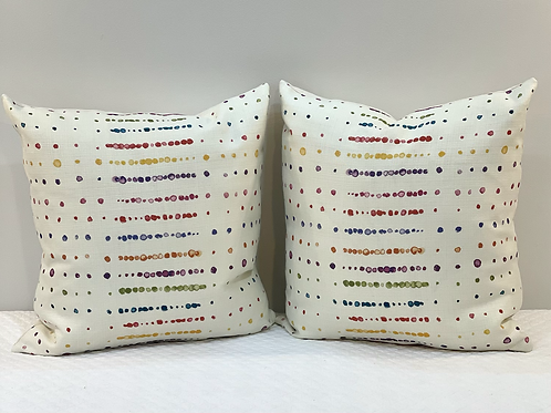Dotted line pillow