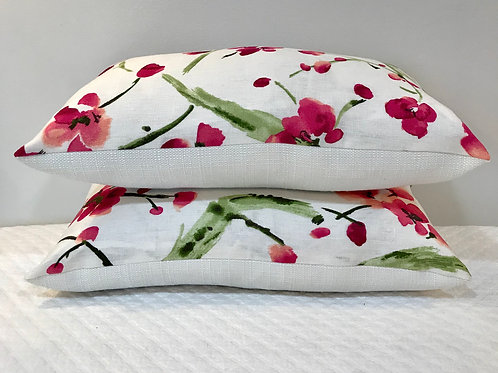 Floral Linen Lumbar Pillows