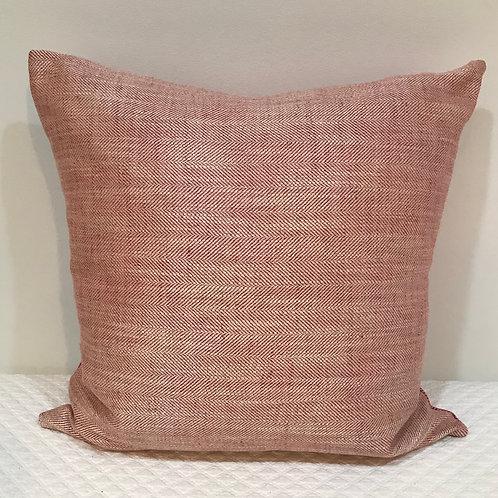 Pink Herringbone Pillow