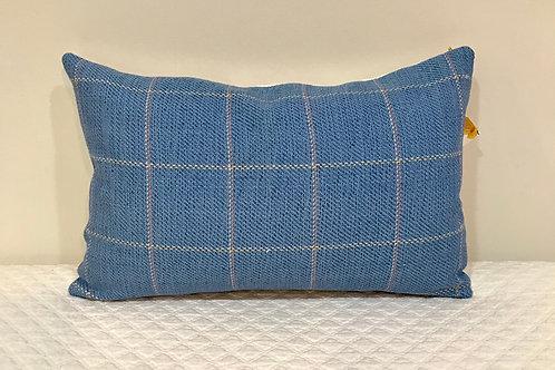 Blue Window Pane Pillow
