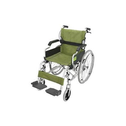 豪華鋁合金便攜輪椅 (綠色)