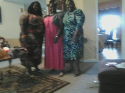 Sisters before a wedding