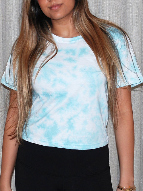Teal Cropped T-Shirt