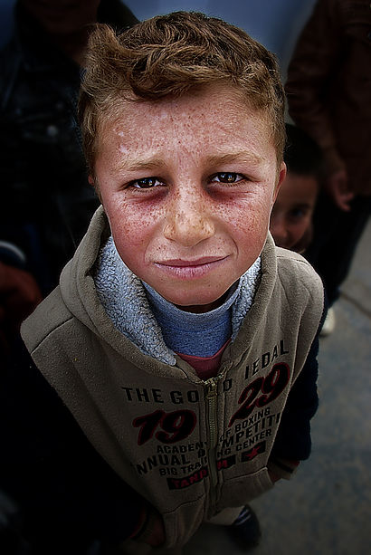 Islamic states terror plan expansion has led to millions of Arabs and Muslims fleeing their homes for safety in other parts of Iraq. This little boy is one of many that have been robbed of an education and safety.