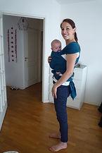 Photo portage bébé atelier individuel