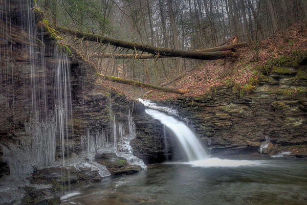 Cottonwood Falls Worlds End State Park